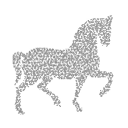 Vector image of an horse design on white background Vector