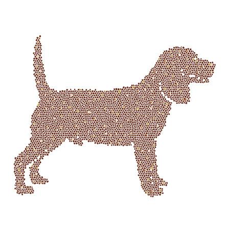 cubism: Vector image of an dog labrador design on white background