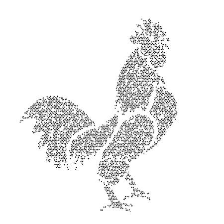 Vector image of an cockerel design on a white background Vector