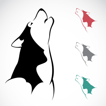 Vector image of an wolf on white background. Vector