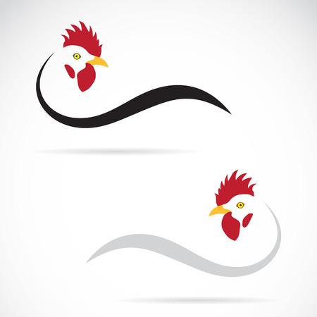 pollo caricatura: Vector de imagen de un gallo en el fondo blanco Vectores
