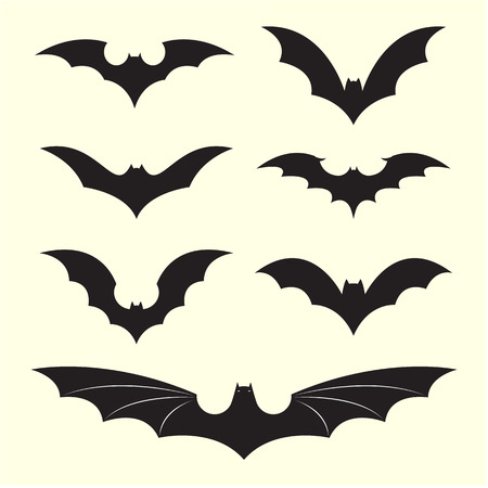 Vector group of bat on white background Vector