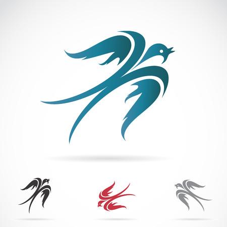 tatouage oiseau: Vecteur d'image d'une hirondelle sur fond blanc Illustration