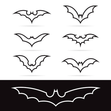 Set of vector bat icons - Illustrations Vectors Vector