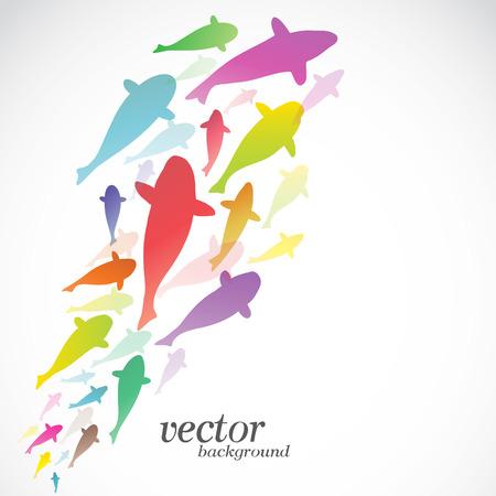 japanese ethnicity: Fish design on white background -  Vector Illustration