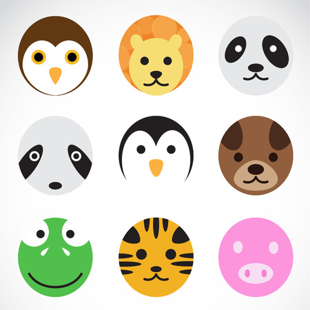 Animal vector icons on white background Vector