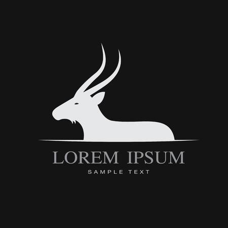 background image: Vector de imagen de los ciervos en el fondo negro