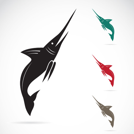 Vector image of an sailfish on white background Illustration