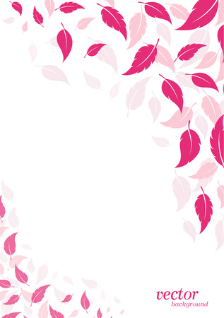 Abstract pink leaf background with place for your text. Vector