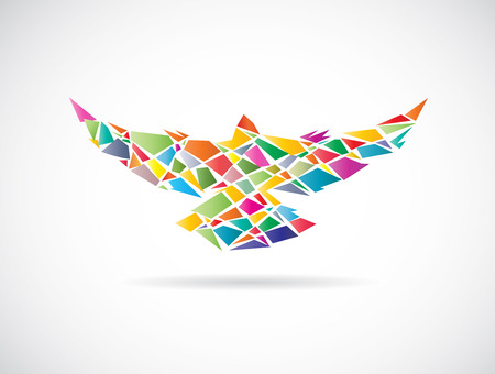 Vector design of colorful birds on white background Vector