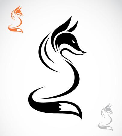 白い背景の上のフォックス デザインのベクトル画像
