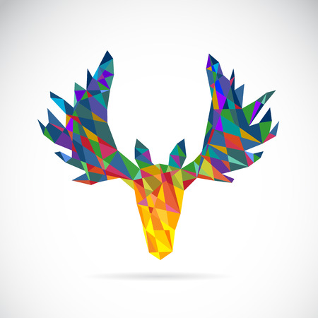 Vector image of an deer head design on white background Vector