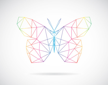 Vector image of an butterfly design on white background Vector