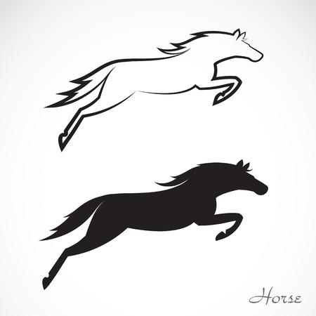 白い背景の上の馬のベクトル画像  イラスト・ベクター素材