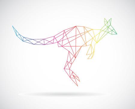 Vector design of kangaroos on white background Vector