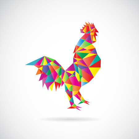 image of an chicken design on white background