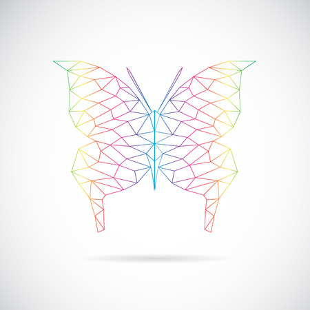 image of an butterfly design on white background Vector