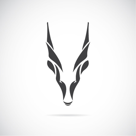 mountain goats: image of an goat head  Goral  on white background Illustration