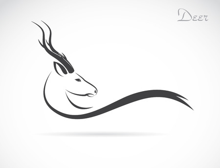 image of an deer head on a white background Vector