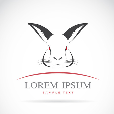 rabbit silhouette: image of an rabbit head on white background
