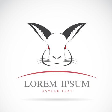 lapin silhouette: l'image d'une tête de lapin sur fond blanc Illustration