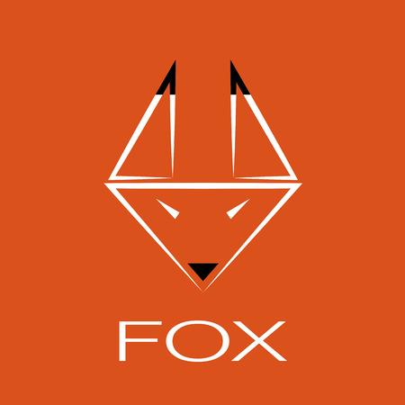 image of an fox design on orange background Vector