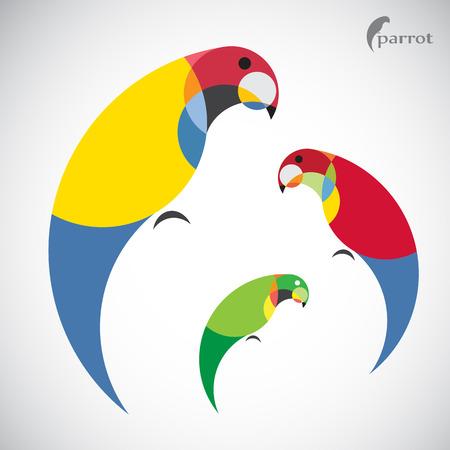 papegaai ontwerp op een witte achtergrond.