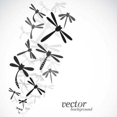Dragonfly Design auf weißem Hintergrund Standard-Bild - 29032308