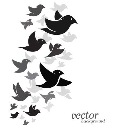 adherent: Bird design on white background - Vector Illustration Illustration