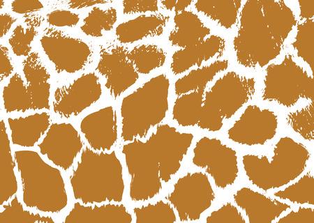 Seamless manchado jirafa Fondo de la piel. Ilustración vectorial