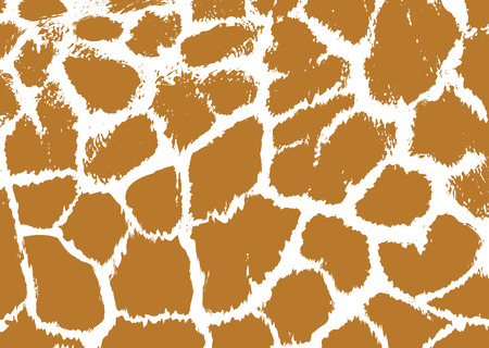 Seamless spotted Giraffe Skin Background. Vector illustration Illustration