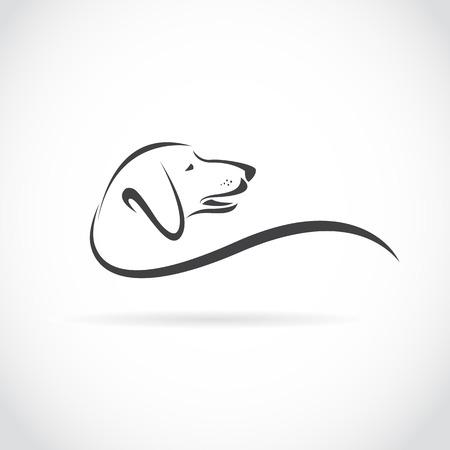 siluetas de animales: Vector de imagen de un Dachshund perro sobre fondo blanco