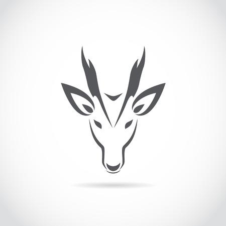 barking: Vector immagine di un cervo abbaiare su sfondo bianco