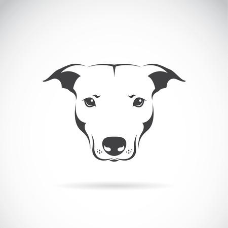 白い背景の上犬の頭のベクトル画像  イラスト・ベクター素材
