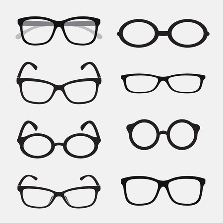 Vector group of an Glasses on white background. Vector