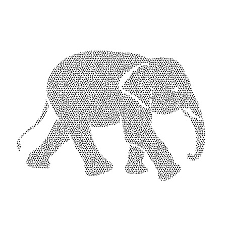 Vector image of an elephant design on a white background Vector