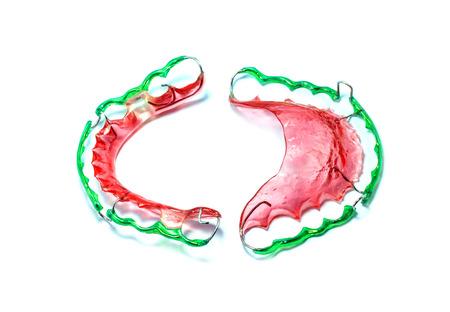 Image of Dental brace (Retainer) isolated on white background. photo