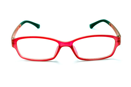protective spectacles: Beautiful glasses isolated on white background