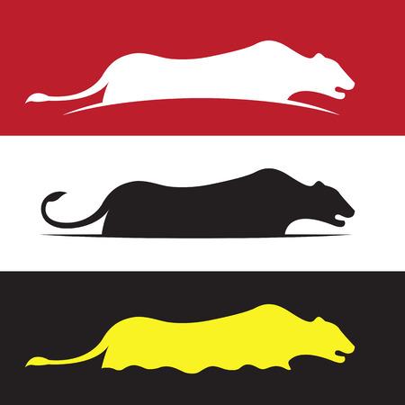jaguar: Imagen del vector de diseño del león hembra.