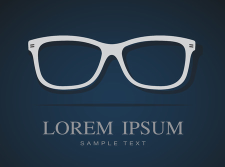 Vector image of Glasses on blue background. Vector