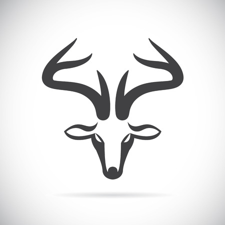 antlers silhouette: Vector images of deer head on a white background.