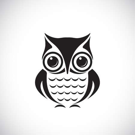 Vector images of owl on a white background. Vector