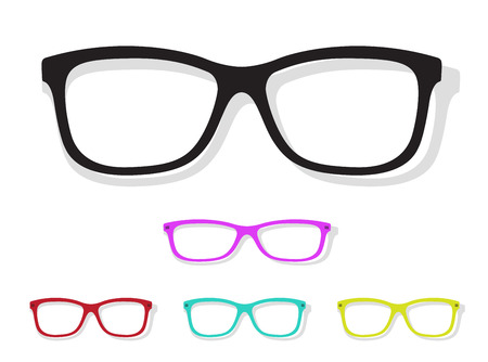 blue eye: Vector image of Glasses on white background.