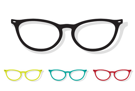 Vector image of Glasses on white background.