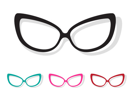 Vector image of Glasses white on white background. Hình minh hoạ