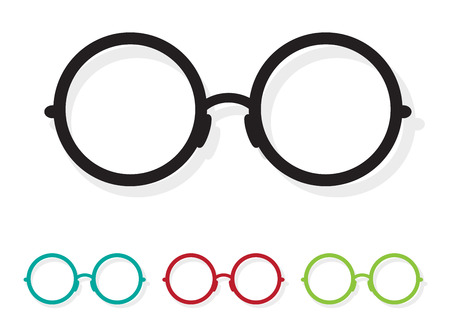 Vector image of Glasses white on white background. Çizim