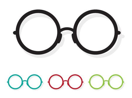 glass art: Vector image of Glasses white on white background. Illustration