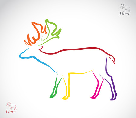 image of an deer on white background Vector