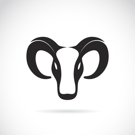 image of an goat head on white background Vector