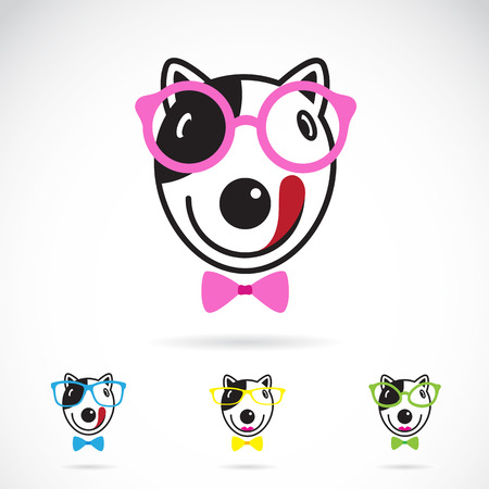 image of a dog glasses on white background. Fashion Vector